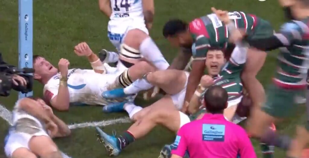 WATCH: May scores seemingly impossible try against Exeter
