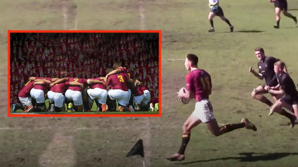 Rugby fans astounded at the impressive size and skill of South African schoolboys in season highlights video