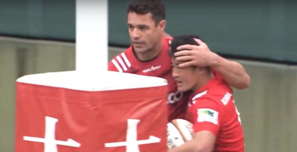 WATCH: All Blacks legends showcase ability in Japanese Top League