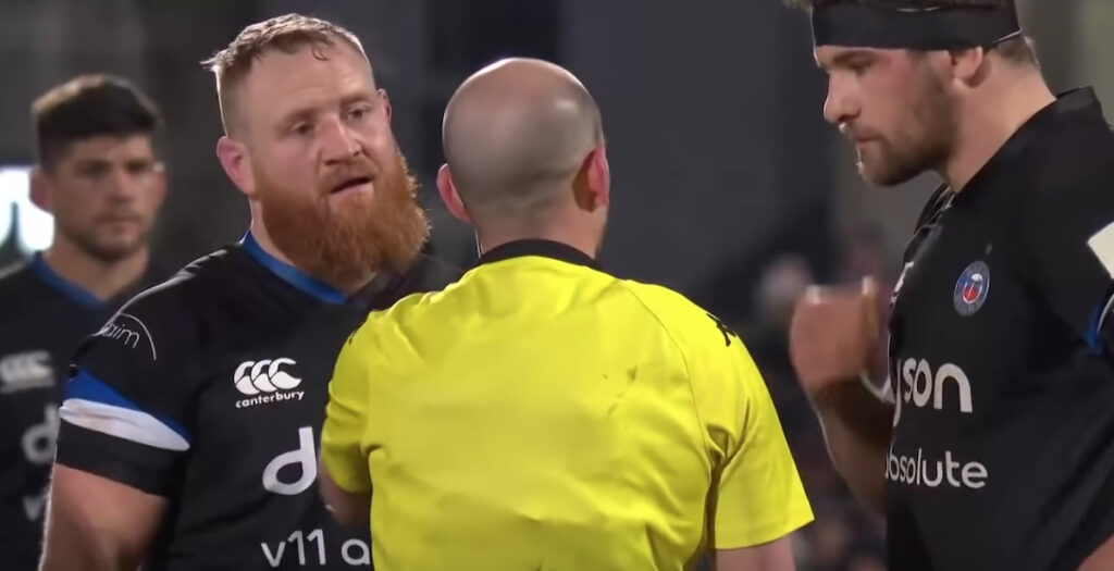 WATCH: Bath hooker sees RED over close call in Champions Cup