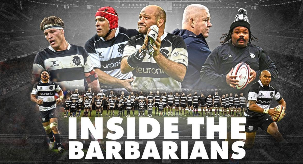 Exclusive Baa Baas access was granted for this 'Inside the Barbarians' documentary