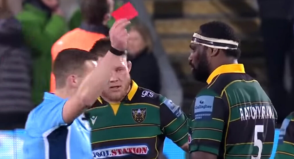 Fijian lock gets heavy suspension after contesting red card for 'dangerously charging in to the ruck'