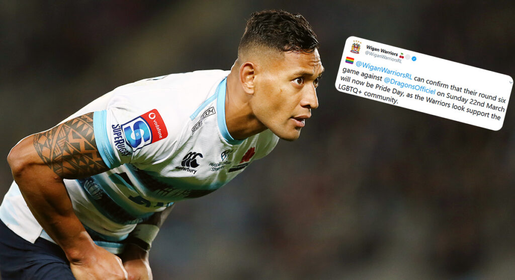 Wigan Warriors make bold statement as Israel Folau signs for rival Rugby League club
