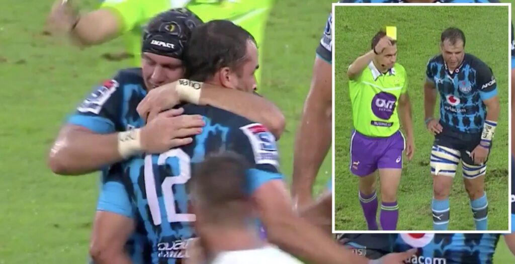 WATCH: Super Rugby centre praised by OWN teammates before getting sent off