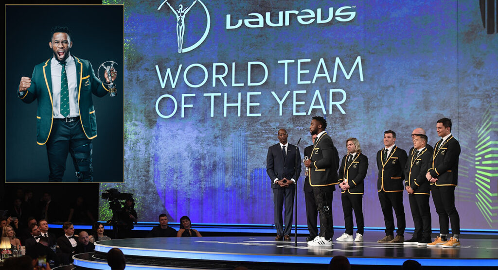 Kolisi gives inspirational acceptance speech as Springboks fly the flag for rugby