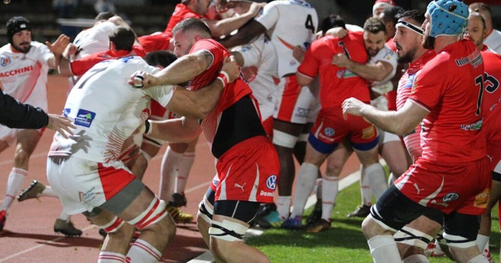 SEVEN red cards shown in French national league brawl