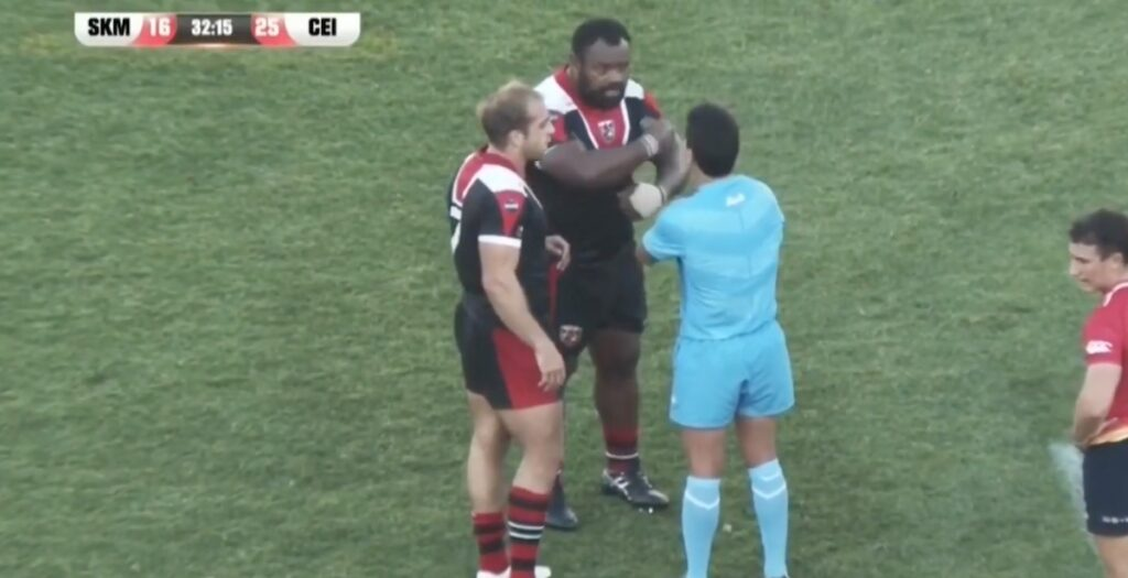 WATCH: Fijian prop escapes RED after high shot in South American league