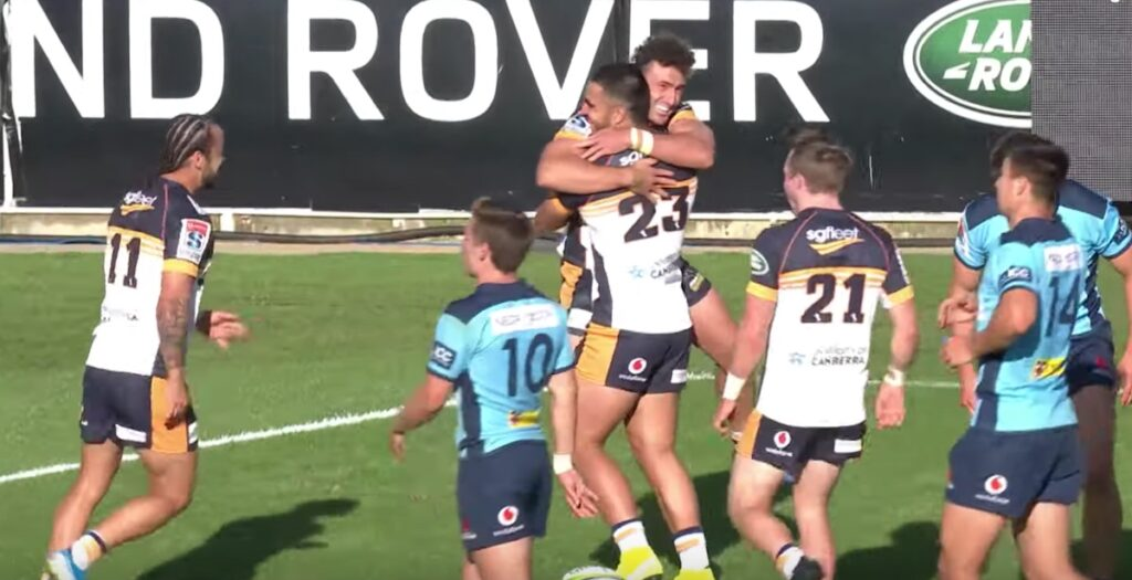 WATCH: Brumbies score set piece beauty from a scrum on halfway