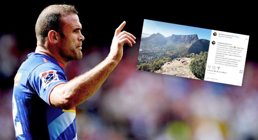 Jamie Roberts gets last flight out of South Africa hours before lockdown takes place
