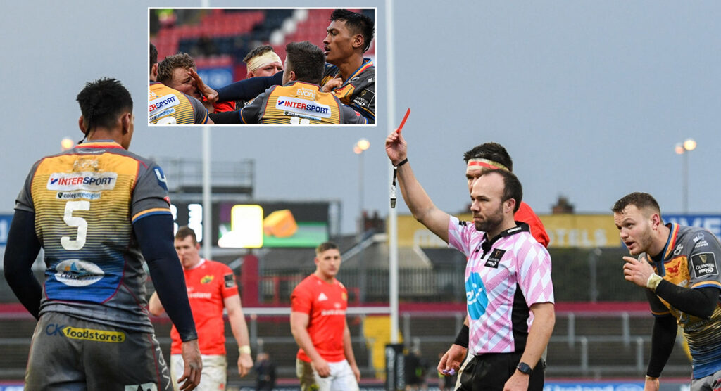 Scarlets lock loses the plot, lashes out with multiple punches
