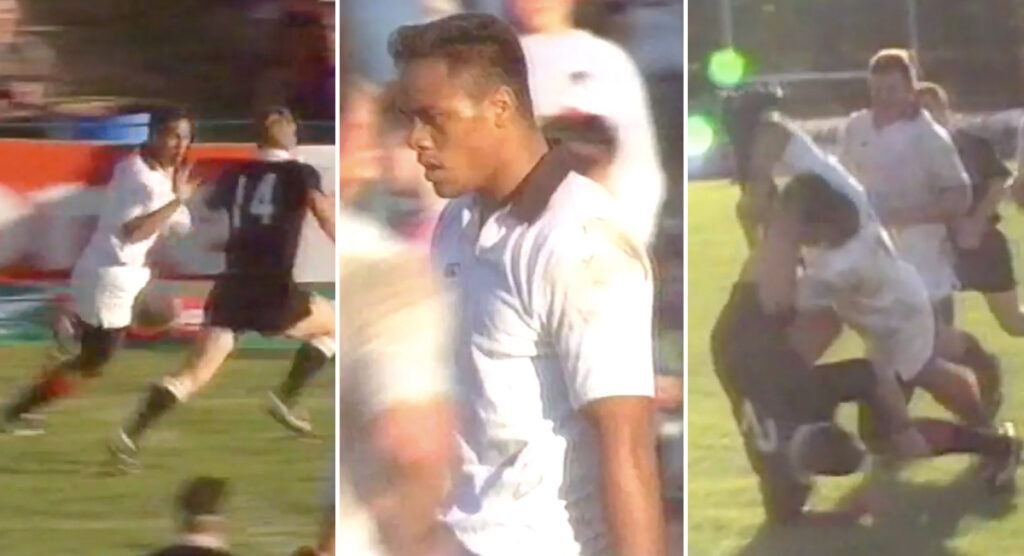 Rare footage shows 18-year-old Jonah Lomu terrorising All Blacks in 1994 trial game