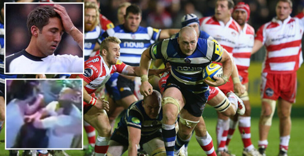 WATCH: Carl Fearns knocking blokes down on and off the pitch