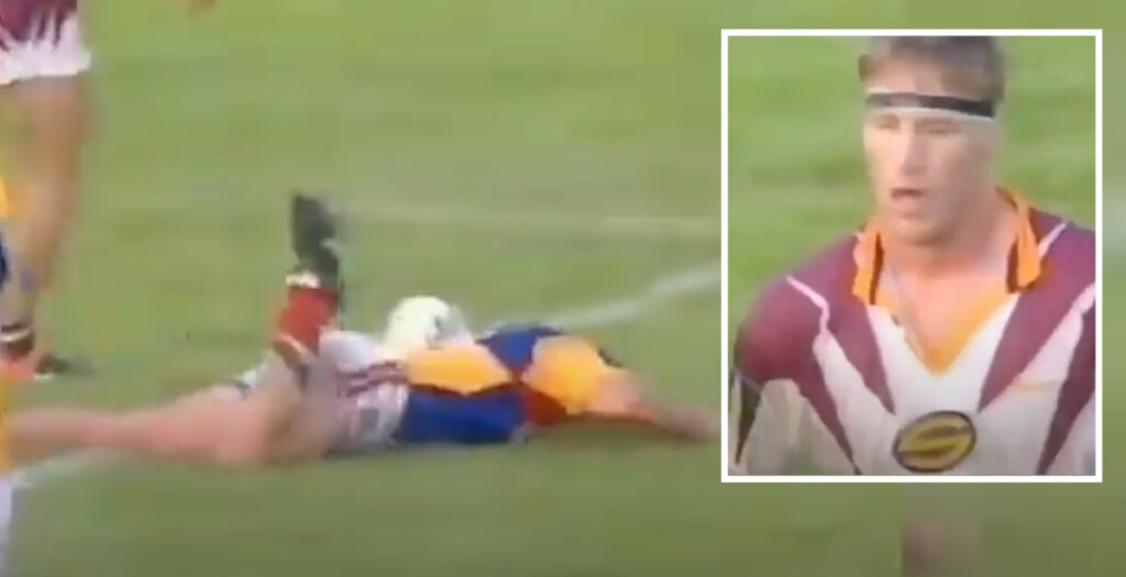 WATCH: All Blacks great nearly kills opponent with brutal clothesline during 90s league match