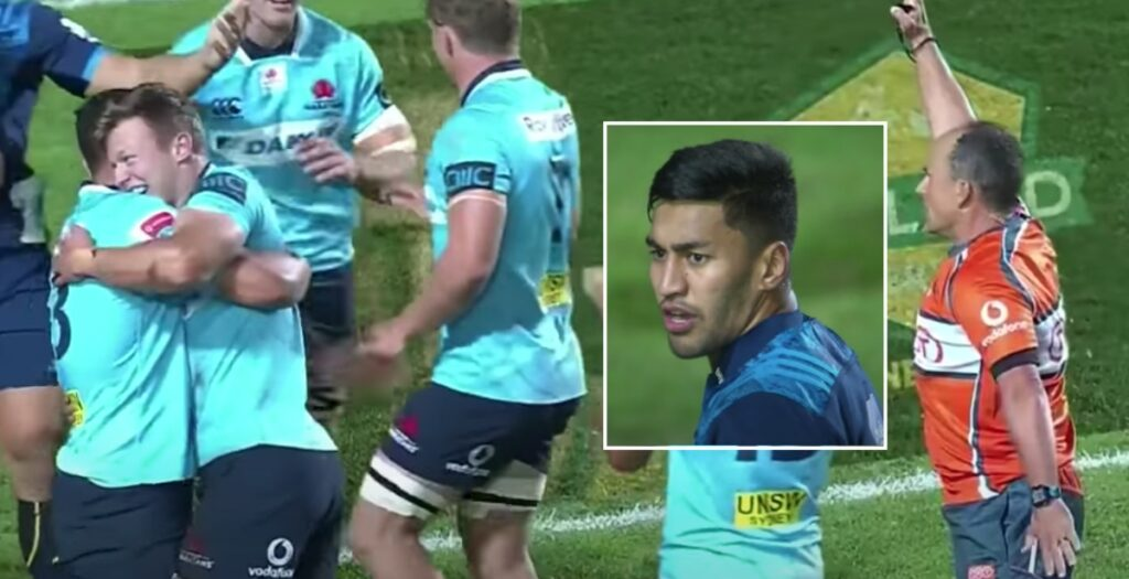 WATCH: Ioane caught out by INSANE try-saving tackle after 80-metre sprint