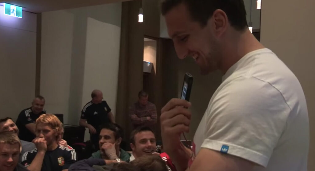 Lions release footage of Sam Warburton's awkward call to club coach while in Australia