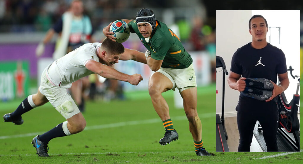 Cheslin Kolbe is raffling a pair of his Rugby World Cup 2019 boots for charity