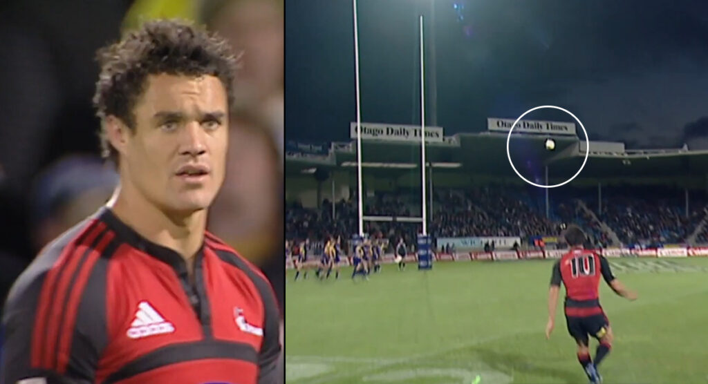 A high definition look at Dan Carter launching THAT unbelievable conversion kick that we'll never forget