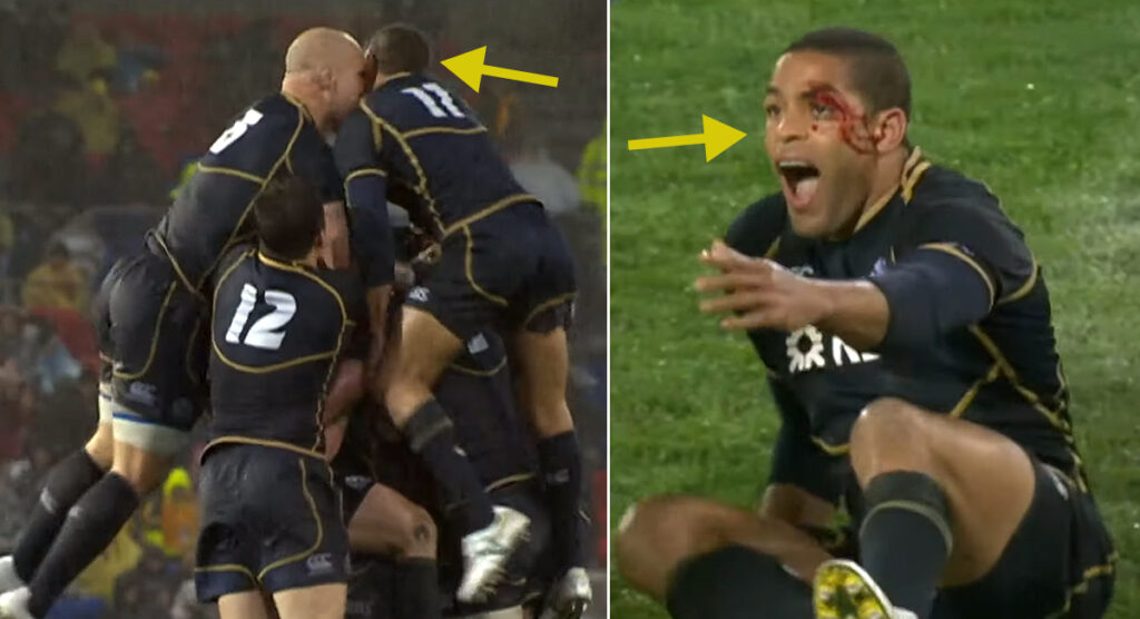 Rugby is represented by THAT infamous celebration blooper in an amusing list of Top 10 sports fails