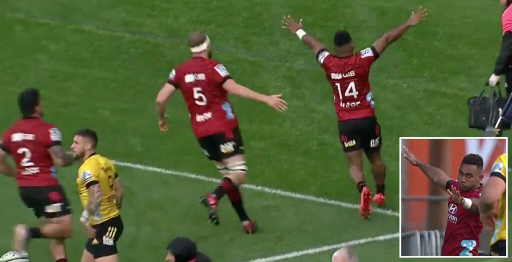WATCH: All Blacks winger scores cracker in opening minute of Super Rugby Aotearoa round two