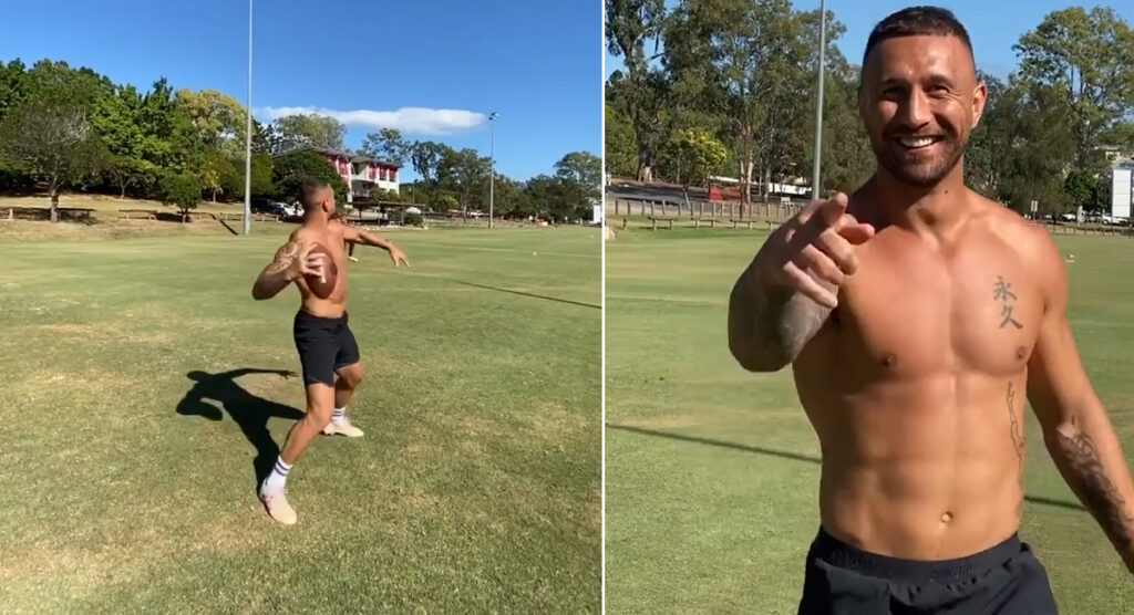 Ripped Quade Cooper has done it again with another cheeky trick pass