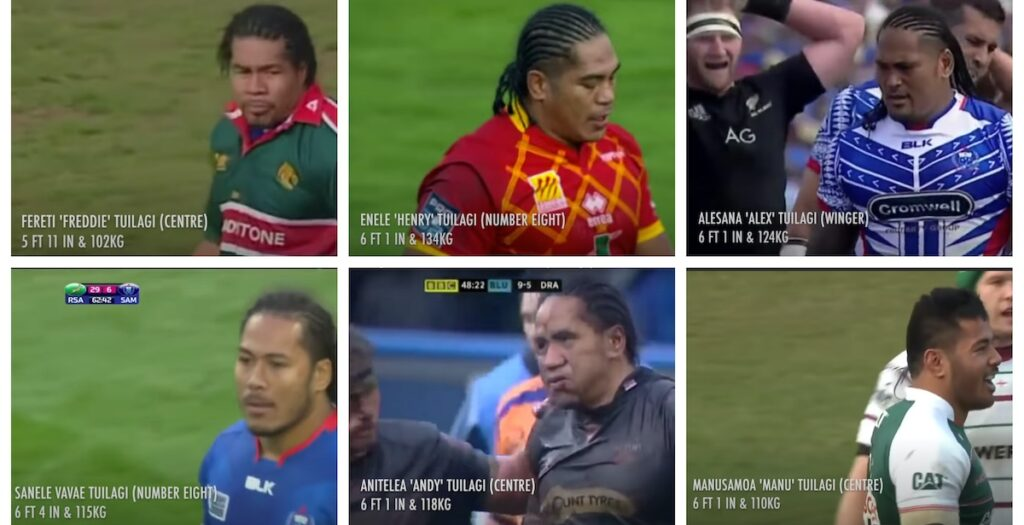 WATCH: The biggest hits of all six Tuilagi brothers in one EPIC montage