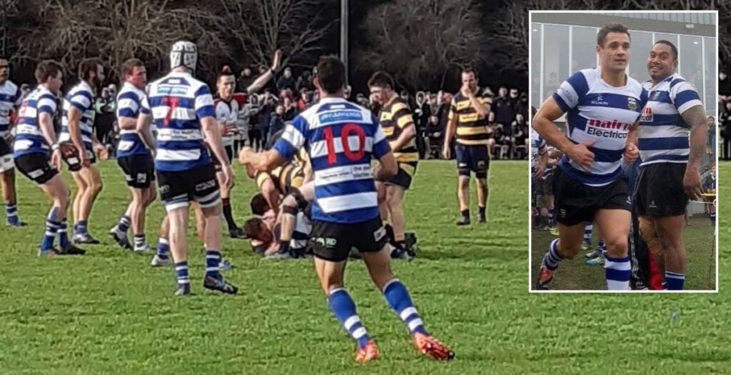 All Blacks great Dan Carter involved in handbags during grassroots game in Canterbury