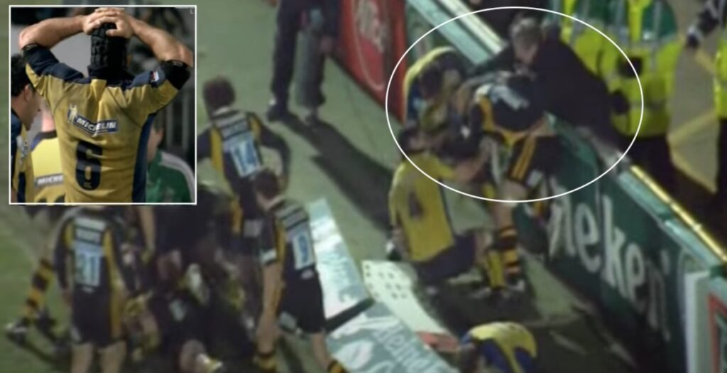 When an RFU official joined a mass brawl sparked by Clermont's Jamie Cudmore