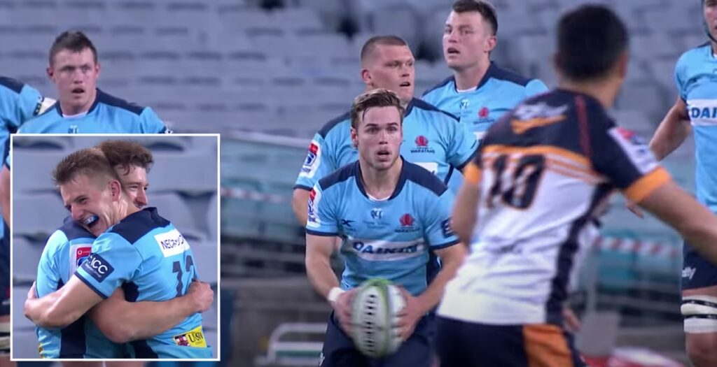 Tahs youngster comes up with genius play to set up brilliant try