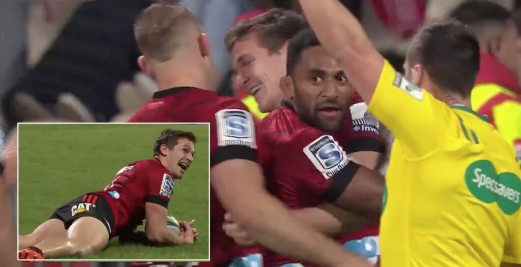 All Blacks wingers combine to score incredible try in Super Rugby Aotearoa
