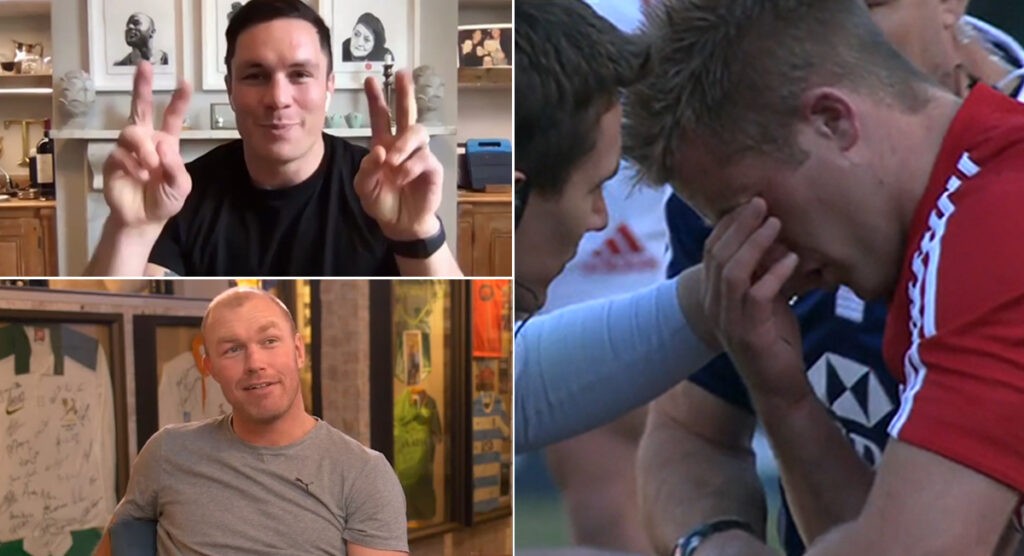 Schalk Burger awkwardly teased about 2009 as Francois Louw watches footage of his manic aggression