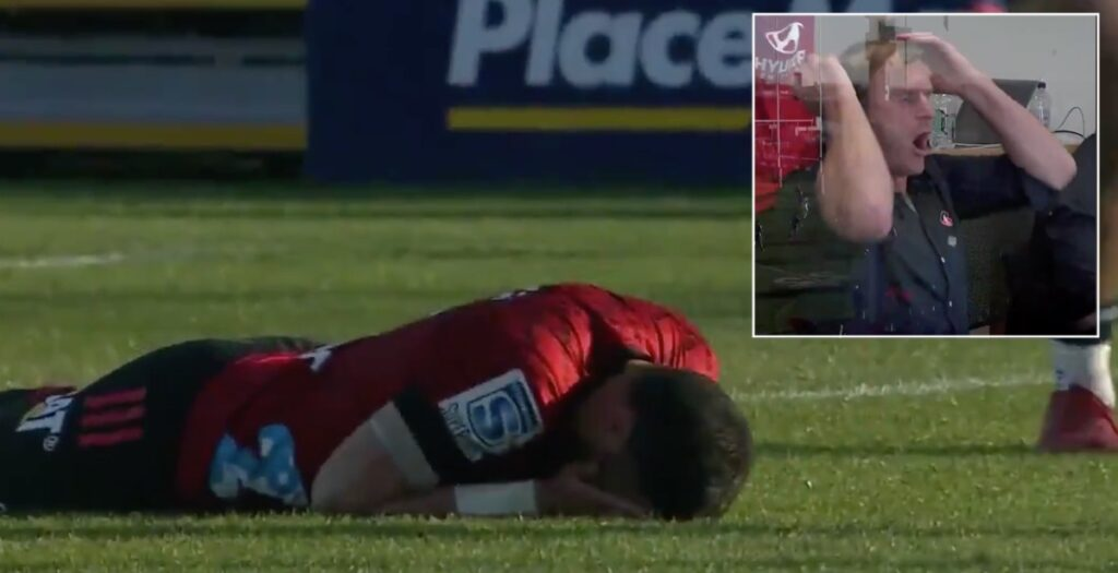 Incredible last-ditch tackle prevents Crusaders scoring wonder try in Super Rugby Aotearoa