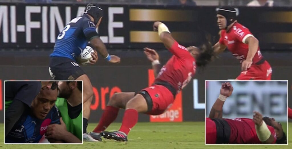 All Blacks legend Ma'a Nonu receives horror knockout in Top 14 semi-final