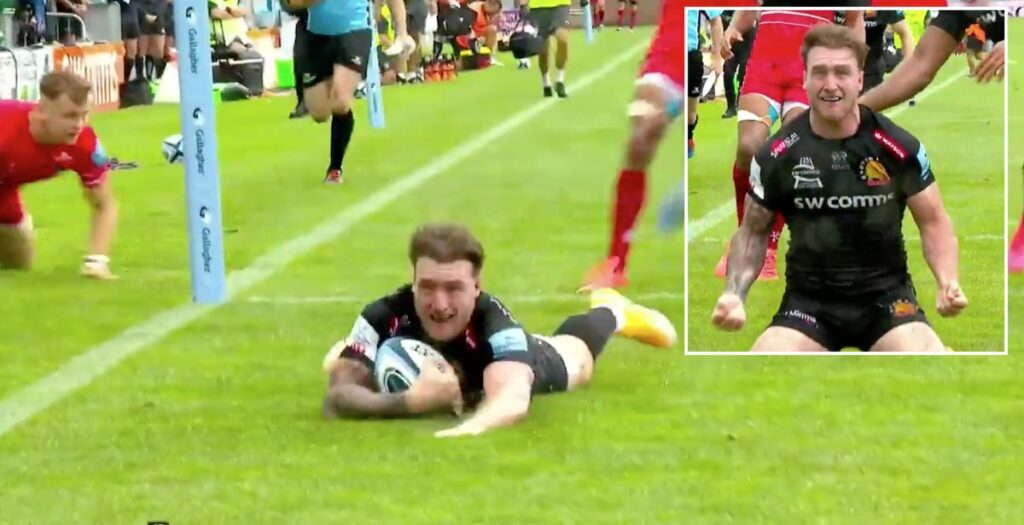 WATCH: Hogg scores from beautiful Exeter set piece move