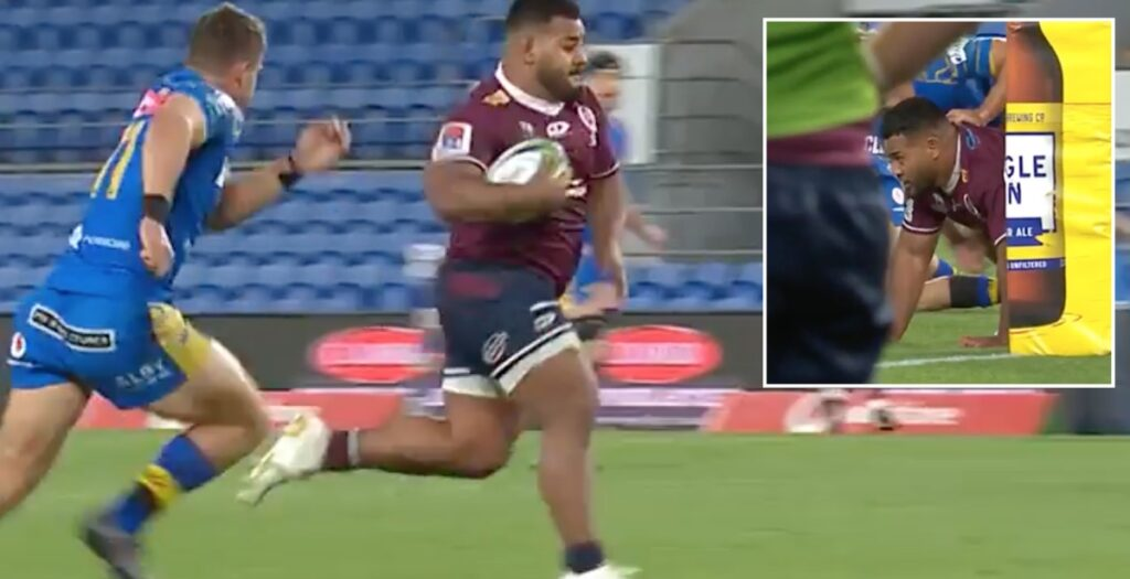 130kg front-rower falls inches short of scoring the try every prop dreams of