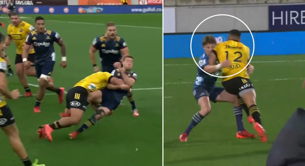 All the biggest hits and brutal carries from New Zealand's impactful Super Rugby competition