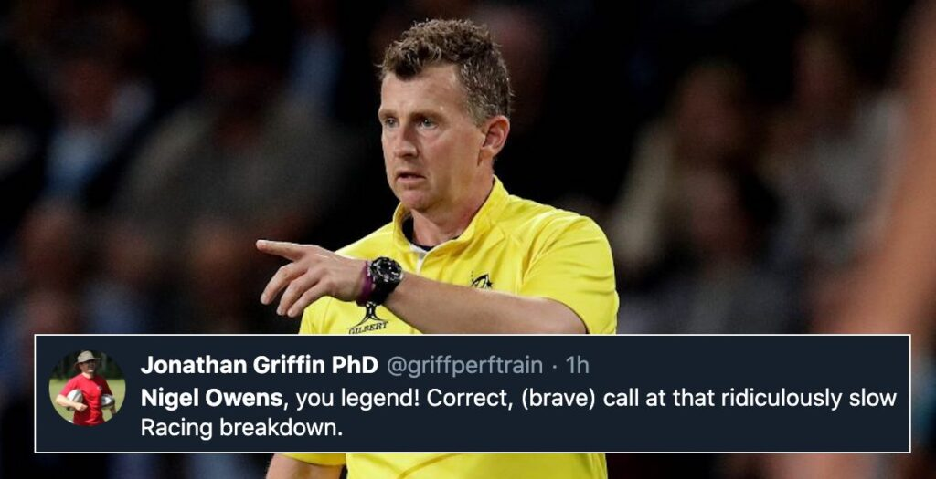 Fans laud Nigel Owens for bold call in favour of Saracens during Heineken Cup semi