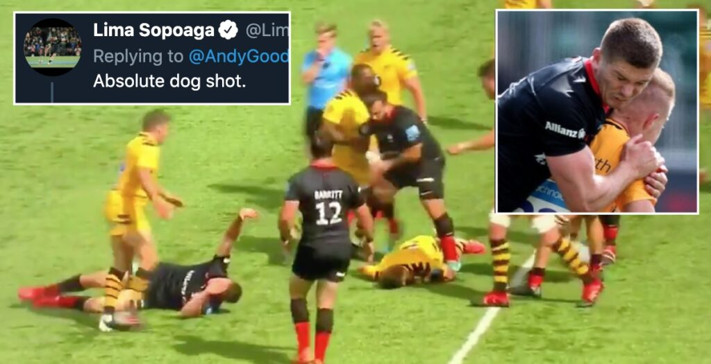 WATCH: The nasty Farrell red card EVERYONE is talking about