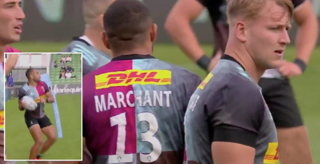 Marchant pulls off huge NFL-style lineout throw which every forward has tried in training