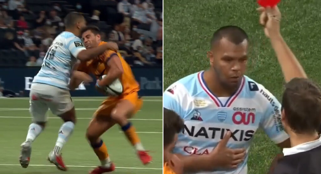 Kurtley Beale's sending off in his first home game for Racing 92