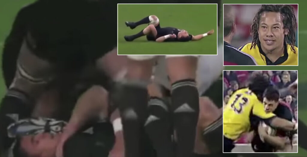 Brutal montage highlights the harsh reality to Dan Carter's bruising career