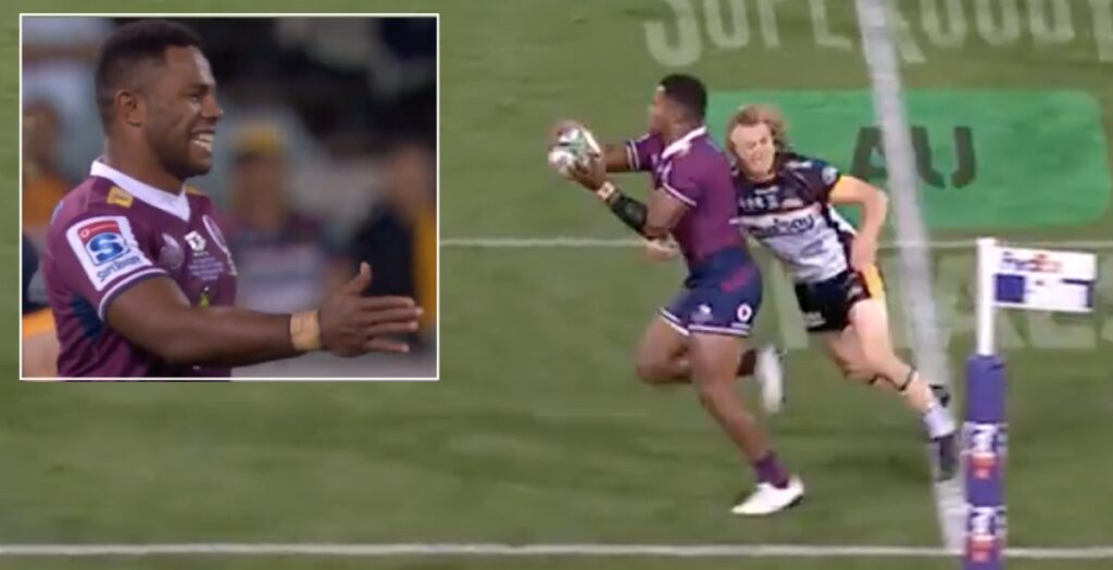 WATCH: Incredible skill almost tees up wonder try in Super Rugby AU final