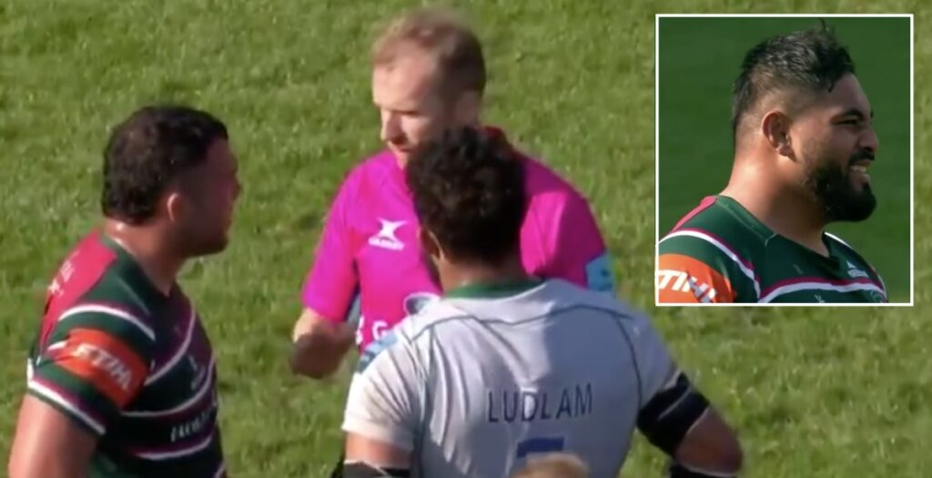 Classic on-field exchange between Wayne Barnes and Ellis Genge over car park fight offer