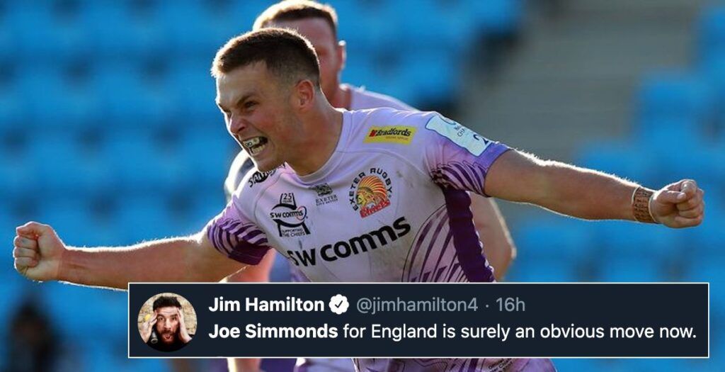 Fans and pundits demand Joe Simmonds England call up after stellar Chiefs performance