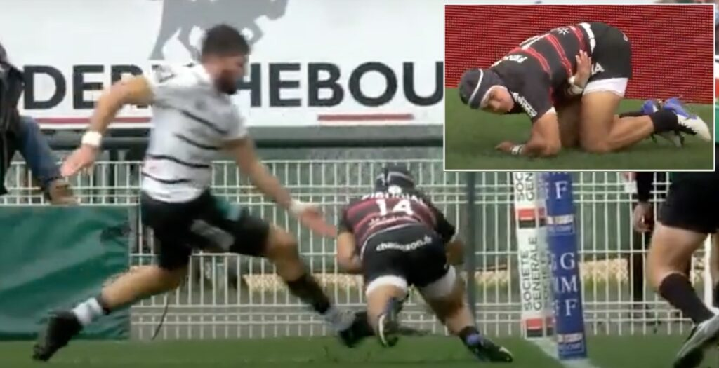 WATCH: Kolbe left hurting after barely legal tackle - but still scores