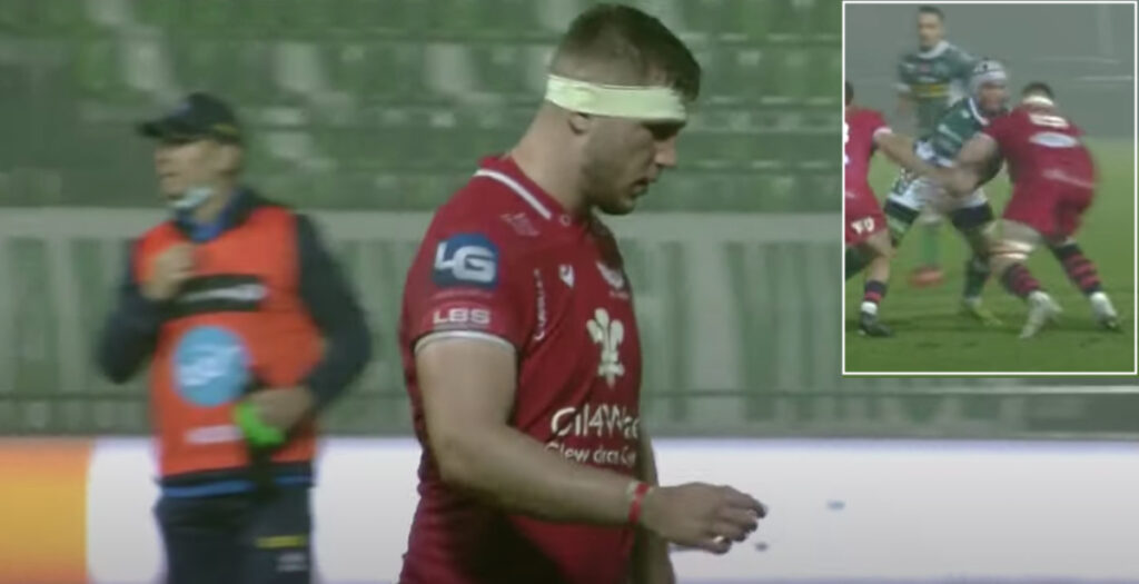 Scarlets lock shown harsh red for potentially dangerous tackle in tight Pro14 clash