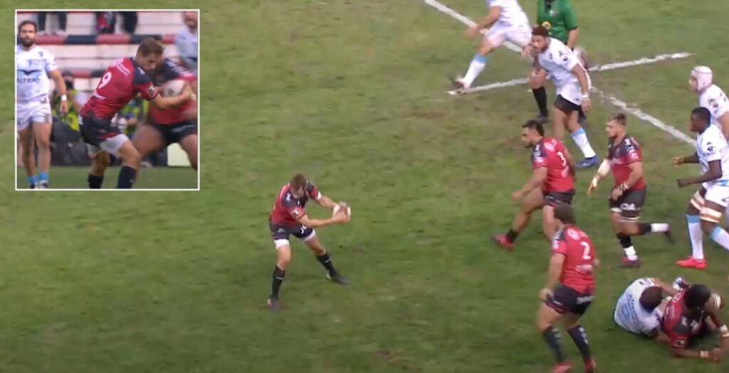 French international scrum-half produces EPIC reverse pass in Top 14