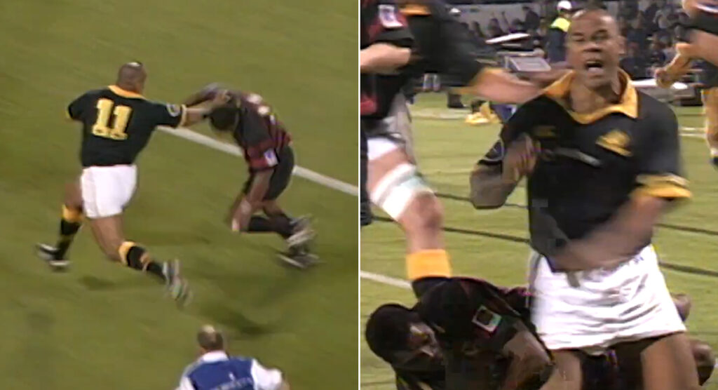 Classic footage shows how Jonah Lomu could even make a Fijian great look decidely average