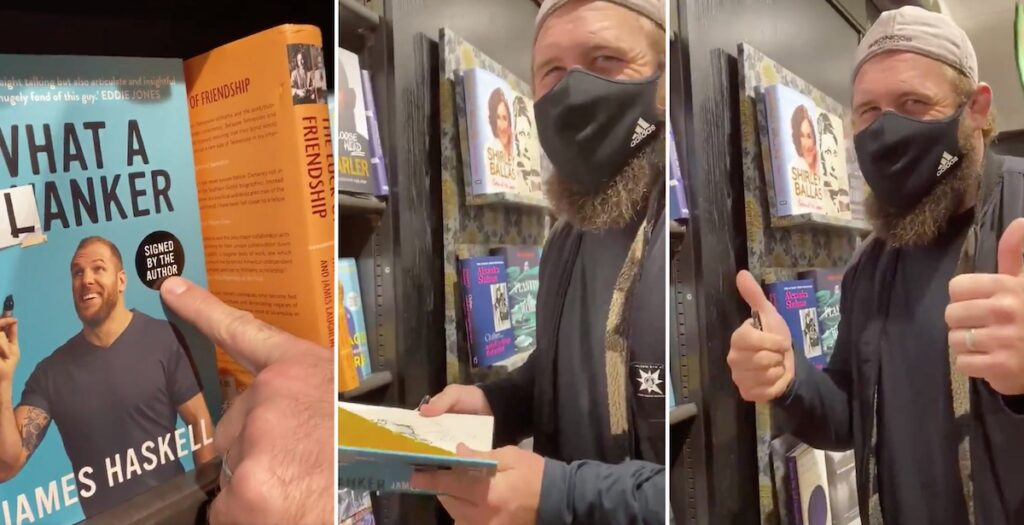 Marler continues hilarious book battle with James Haskell by vandalising What a Flanker