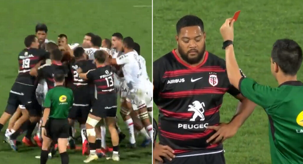 Red for Toulouse prop after senseless post-whistle act somehow didn't cause injury