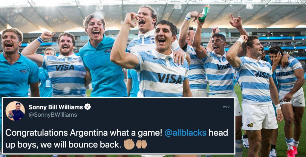 REACTION: Social media storm after emotional Los Pumas triumph over All Blacks
